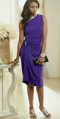 NEW WOMENS ASHRO PURPLE ONE SHOULDER LINNEY DRESS PLUS SIZE 3X