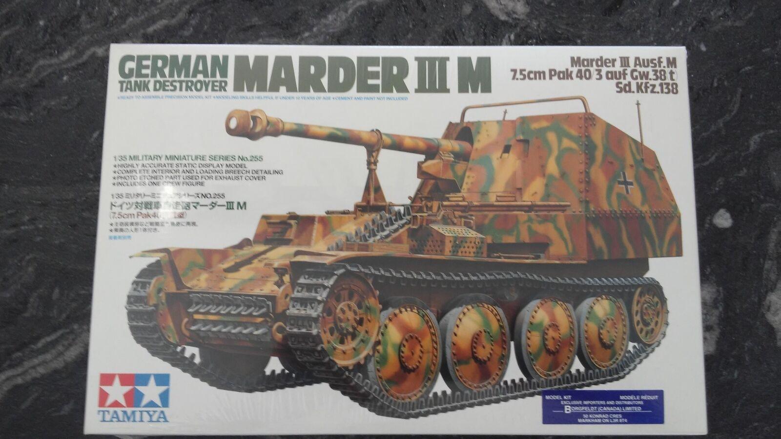 TAMIYA 1 35 WW II GERMAN MARDER III  M TANK DESTROYER MODEL KIT ITEM F S