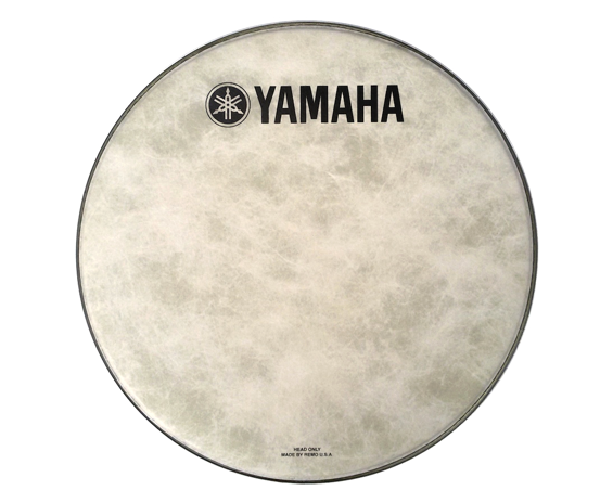 Yamaha Fiberskyn Bass   Kick Drum Logo Head 18 , 20  or 22