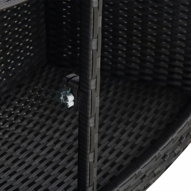vidaXL Bordo vasca da spa in polirattan nero