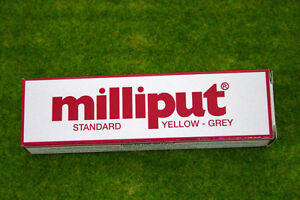 Milliput-YELLOW-GREY-STANDARD-PUTTY-FILLER-Model-Tools