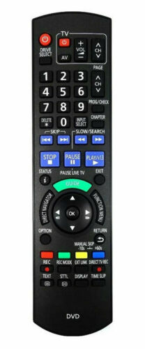 Aftermarket Replacement Remote Control for Panasonic DMR-EX79EG