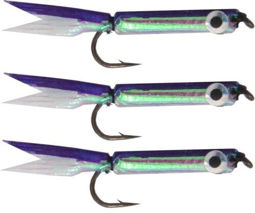Angelköder für Forelle 1g Silver Minnow Lure purple 3 Stück 4,5cm Forellenköder