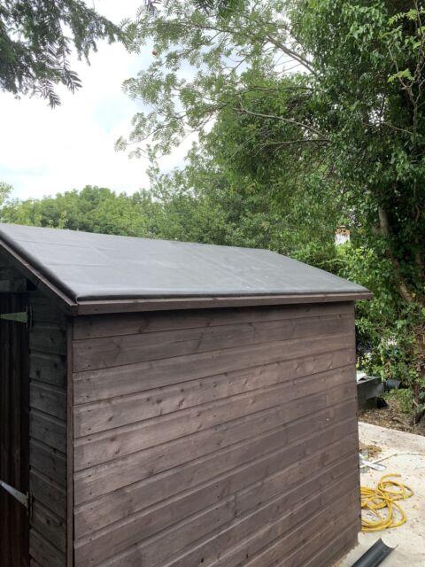 Epdm Rubber Roofing Shed Kit 3 5x0 75 Shed Roof Felt Rabbit Hutch Summer House Ebay