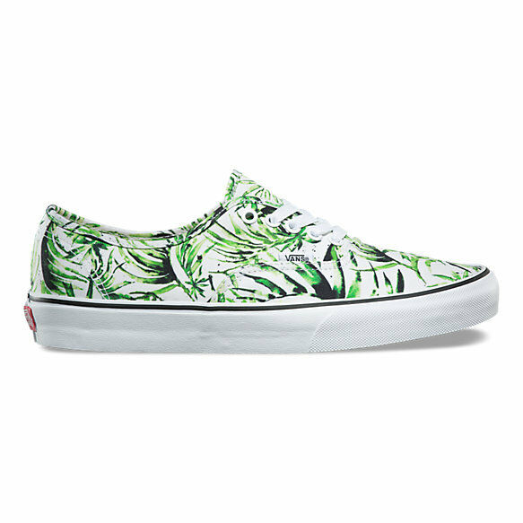 VANS Authentic Donna 8.5 Uomo 7 Water Palms Green Green Green Print  Low Top Shoes 314d4f