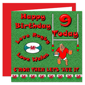 Image Is Loading Welsh Rugby Happy Birthday Card Ages 7 100