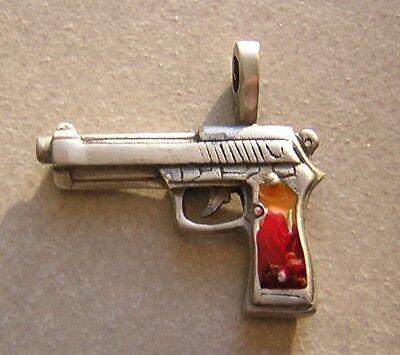 GRAND PENDENTIF EN ARGENT 925//1000 PISTOLET GUN 10,5 GMS D/'ARGENT SILVER PENDANT