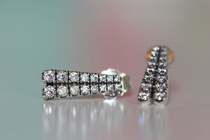 Image Is Loading Authentic New Pandora Shooting Stars Clear Cz Earrings