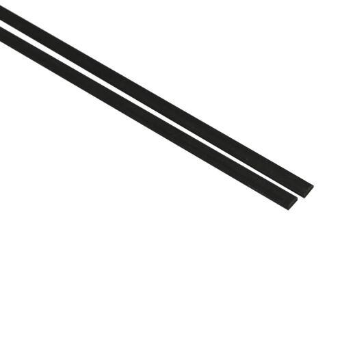 2Pcs 0.5 X 10 X 500MM Carbon Fibre Strips Tube for Kites RC Airplanes Drones