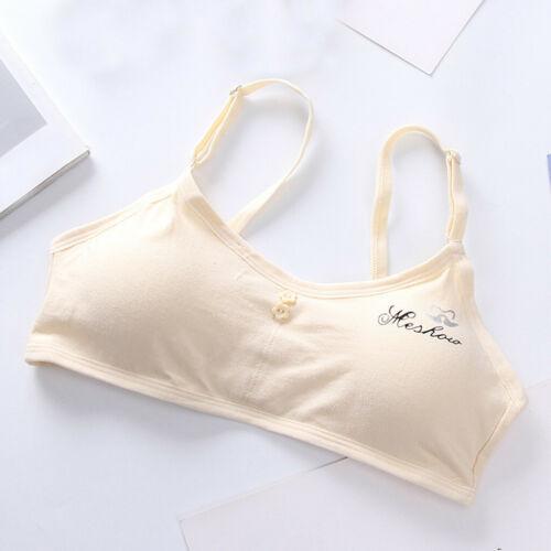 Kids Girls Padded Underwear Bralette Bustier Sports Vest Strappy Cropped Bra UK