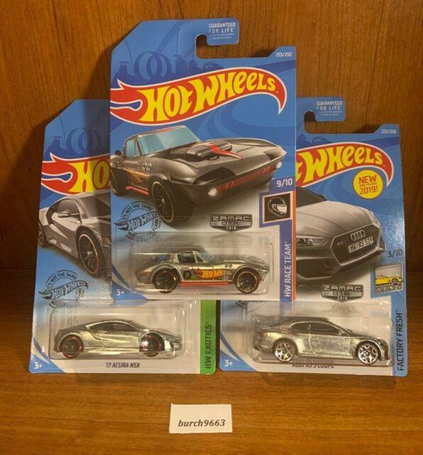2019 Hot Wheels ZAMAC (3 Car Lot) '17 ACURA NSX, AUDI RS 5