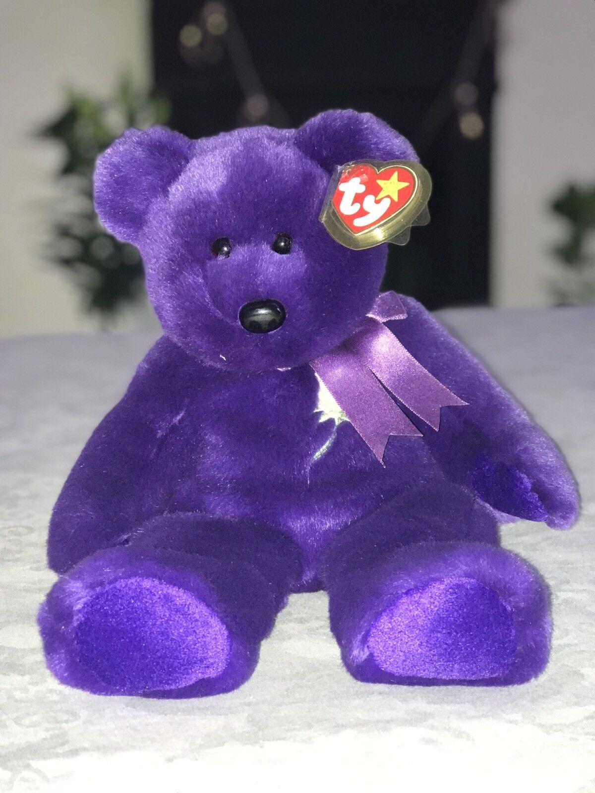 Princess Diana TY Beanie Baby Bear PE Pellets
