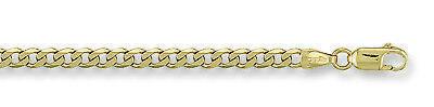 Conscientious Eternal Moments 9ct 9ct Oro Amarillo Barbada 4mm Pulsera De Cadena Fine Jewelry Precious Metal Without Stones
