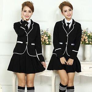 Korean Japanese College High School Girls Uniform Student ...
