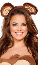 Animal Ears Head Piece Headband Fuzzy Furry Monkey Bear Costume Brown 4714H