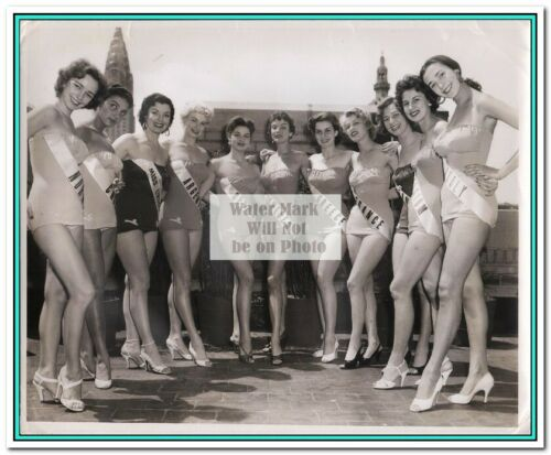 "Rare 3rd Miss Universe 1954 Miriam Stevenson-Press Photos #1-12 8/""X10/"""