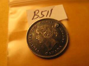 1896-Canada-5-Cent-Silver-Coin-Rare-ID-B-511