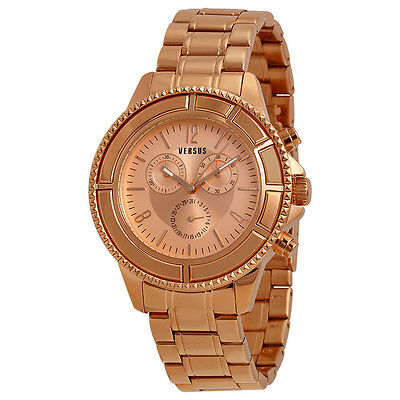 Versus By Versace Tokyo Rose Dial Rose Gold Ion-plated Unisex Watch SGN030013