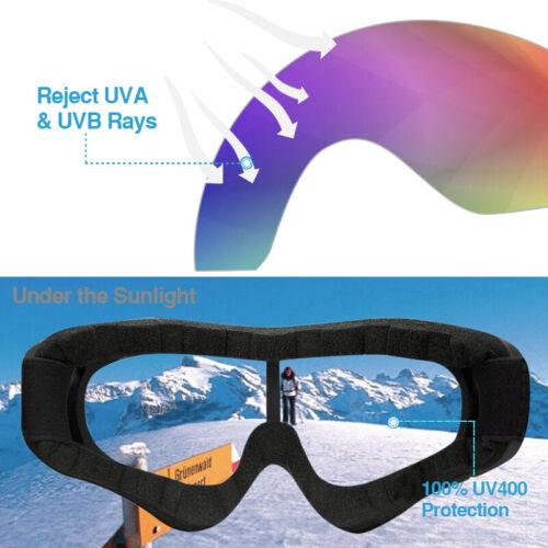 2Pack Ski Goggles Snowboard Winter Sports Anti-Fog Glare Lens UV400 Glasses 2019