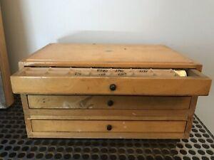 3-antike-Holz-Refraktionskasten-o-Inhalt-Optikerausstattung-Design-Muenzsammler