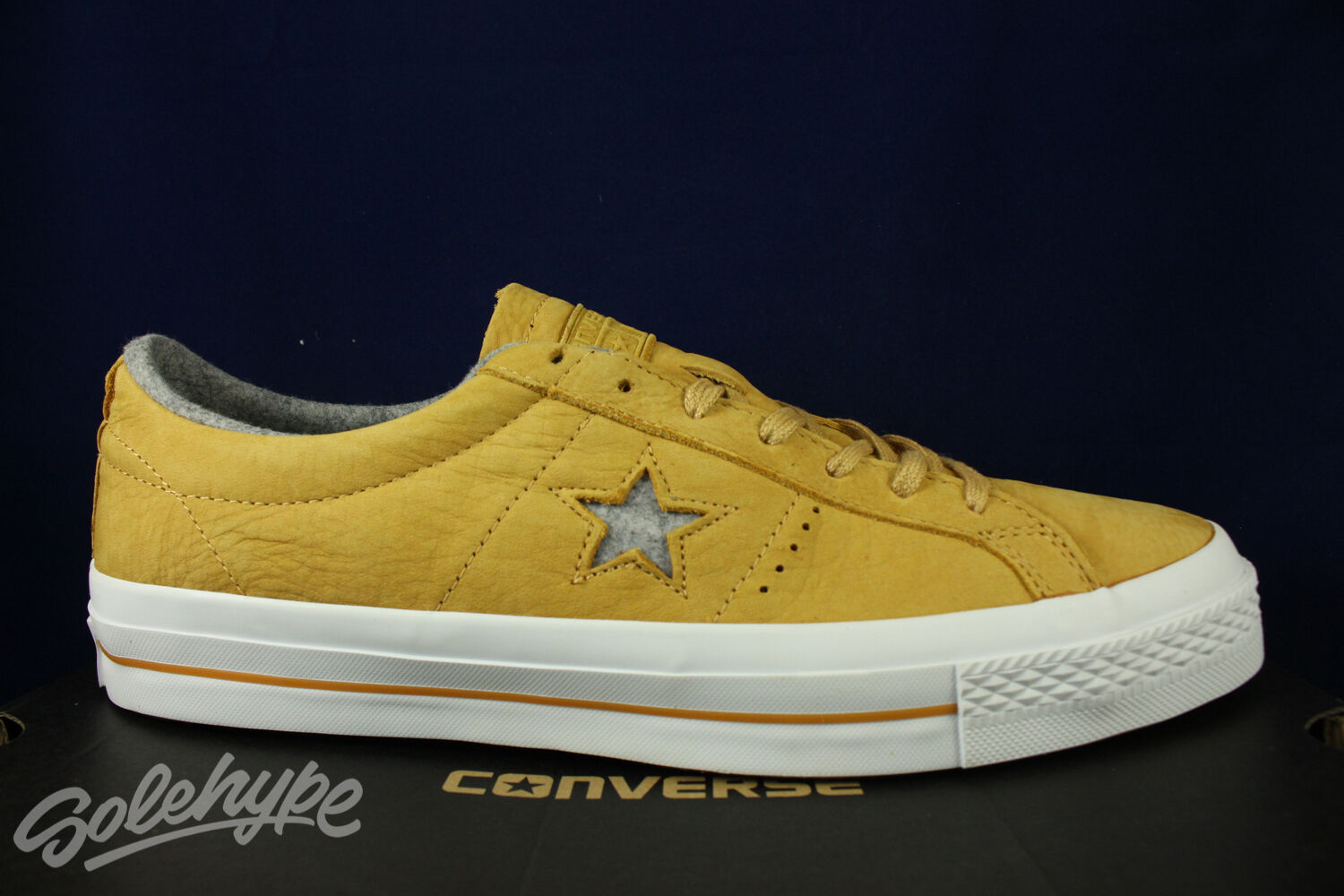 CONVERSE ONE STAR OX NUBUCK SOBA YELLOW ASH GREY 153718C SZ 11.5