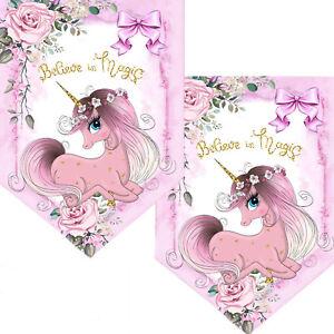Unicorn Pink Bunting//Unicorn Party Garland//Unicorn party Supplies//Unicorn Decor