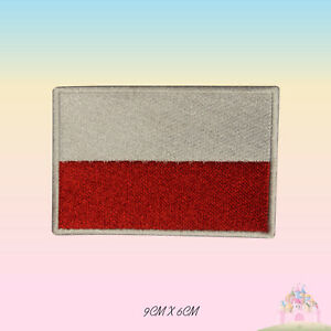 Poland-National-Flag-Embroidered-Iron-On-Patch-Sew-On-Badge-Applique