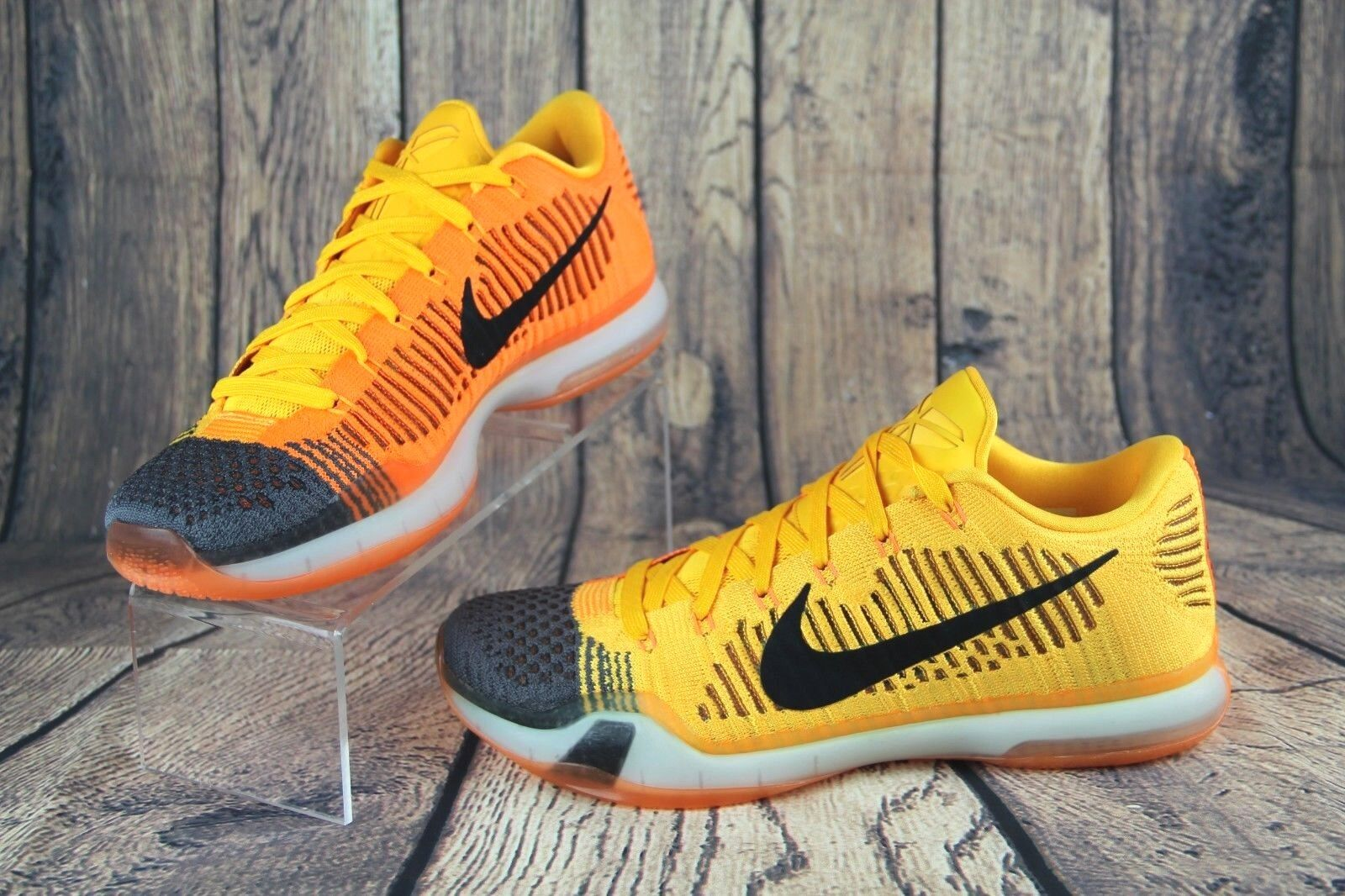 NIKE Kobe X Chester 10 Elite Low FlyKnit Chester X Cheetah Orange Sneaker 747212-818 SZ 10 6bf85c