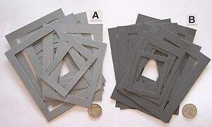 SCRAPBOOKING-NO-440-18-MEDIUM-WEIGHT-GREY-CARD-PHOTO-FRAMES-2-OPTIONS