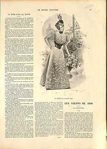COSTUME ROBE MODE FEMME FRANCE 19 XIX JUILLET 1896 SIÈCLE 1896 - France - EBay ANTIQUE PRINT GRAVURE 100 % DÉPOQUE 1896 PORT GRATUIT EUROPE A PARTIR DE 4 OBJETS BUY 4 ITEMS AND EUROPE SHIPPING IS FREE Il s'agit d'un fragment de page originale avec texte au dos qui n'a rien avoir avec l image, il ne s'agit pas d'une re - France