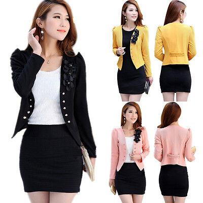 S M L XL XXL Candy Color Women Fashion Korean Solid Slim Suit Blazer Coat Jacket