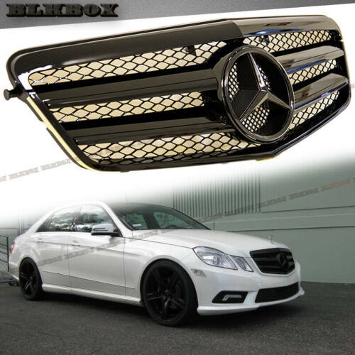 All Gloss Black A Look Fit BENZ 10-13 W212 E-Sedan Front Bumper Replaced Grille
