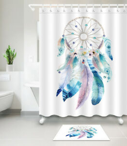 Image Is Loading Waterproof Fabric Dreamcatcher Native American Shower Curtain Hooks