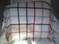 NWT COACH Ivory Multi Wool/Cashmere Tattersall Plaid MUFFLER SCARF SHAWL ret$298