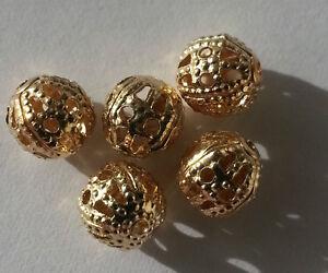 Modeschmuck-30-Metallperle-Legierung-Perle-6-mm-Farbe-altgold-Kettenperlen-A1