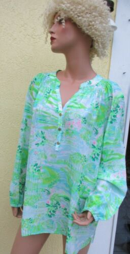 Lilly Pulitzer Honda Classic Silk Blouse XL