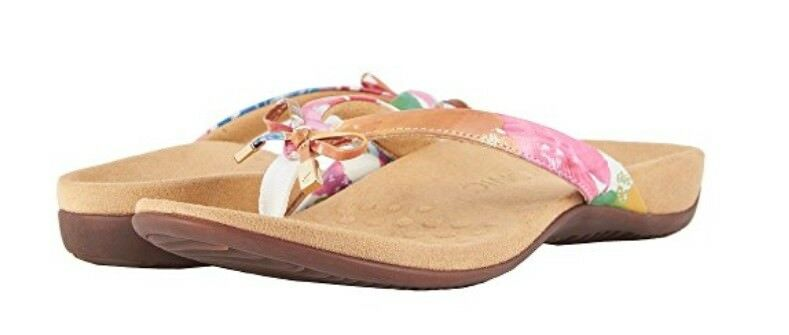 NEW WOMEN VIONIC Weiß SANDAL REST BELLA II Weiß VIONIC FLORAL  AUTHENTIC 44 181074