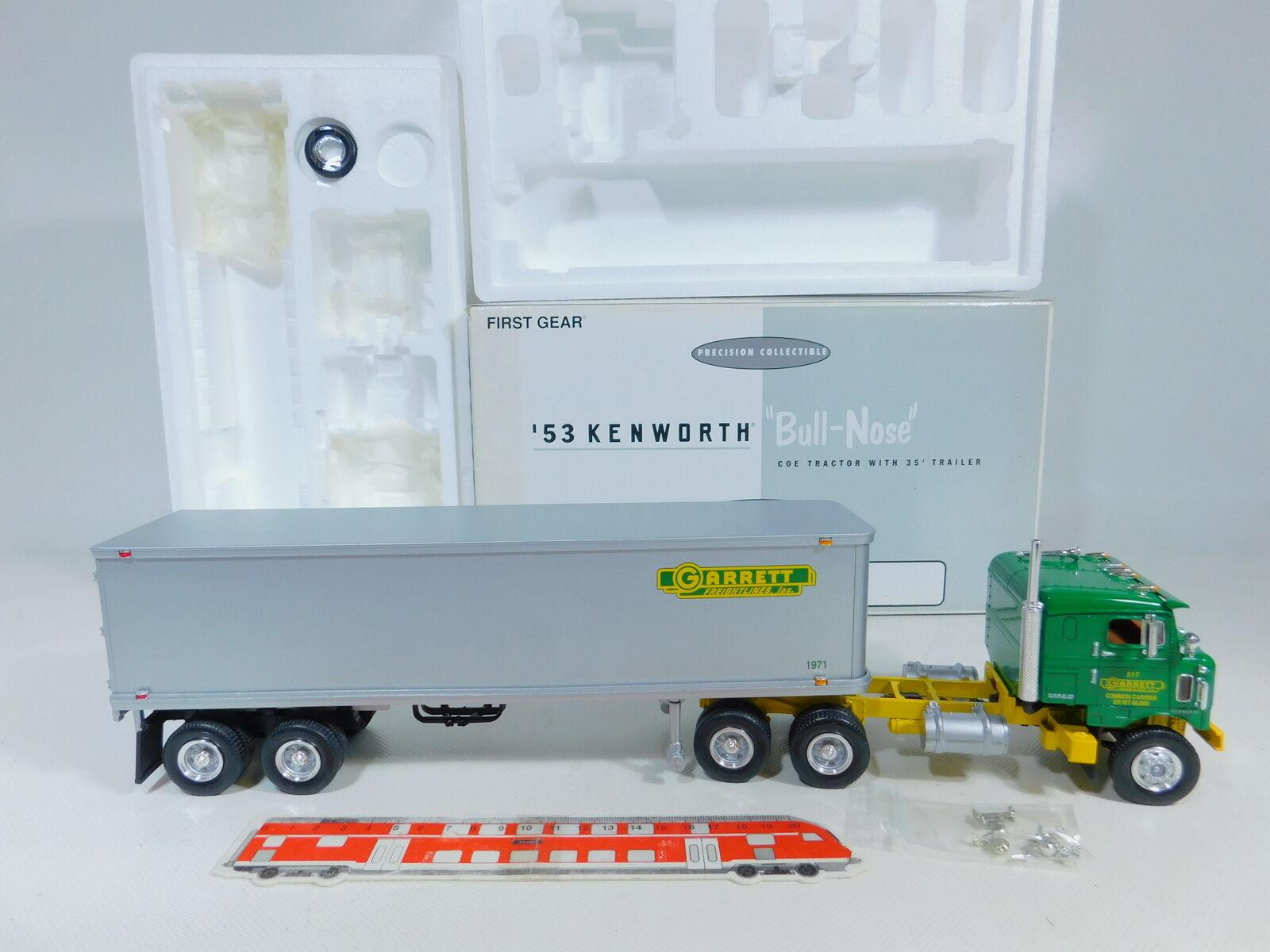 Ca66-3  First Gear 1 34 19-1541 US - USA-camion'53 Kenworth BULL NOSE Garrett, OVP