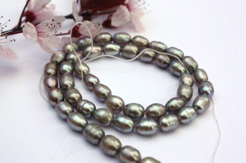 Ov182 de culture Strang d/'eau douce Perle Bijoux Chaîne Collier 5-6 mm ovale