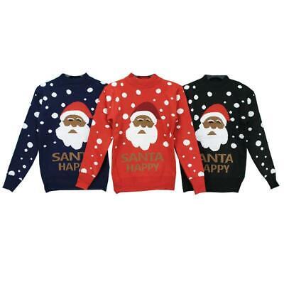 Unisex Knitted Xmas Rudolf Reindeer SANTA Novelty Christmas Jumper Sweater TOP