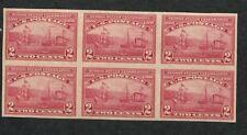 1909 Us Tampon #373 2c Neuf sans Charnière Très Fine Og Imperf Bloc de 6