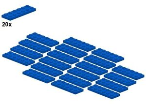 Used-LEGO-Plates-Blue-3795-02-2x6-20Stk-Platte-Blau