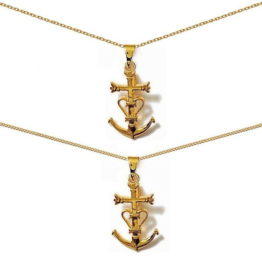 CROSS PENDANT Camargue new gold plated + CHAIN choice