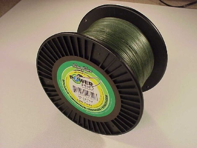 Power Pro Braided Spectra Line 80 lb x 1500 yd Moss verde   We ship worldwide