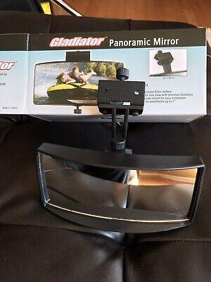 Pactrade Marine Boat Ski Wide Mirror Tinted Black Deck Windshield Mounted Dash