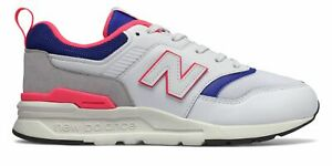 New-Balance-Kid-039-s-997H-Big-Kids-Unisex-Shoes-White-with-Blue