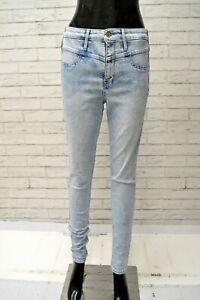 Jeans-Donna-HOLLISTER-Taglia-28-Pantalone-Blu-Chiaro-Pants-Woman-Slim-Fit-Skinny