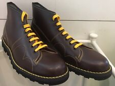 New Mens Retro 60'S Style Brown Original Monkey Boots Made By Grafters Size 10