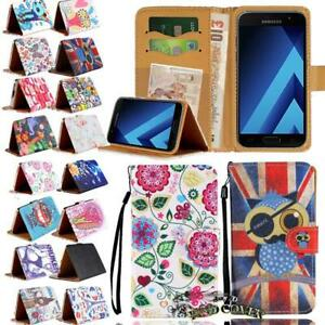For-Samsung-Galaxy-Flip-Leather-Wallet-Card-Stand-Cover-Phone-Case-Strap