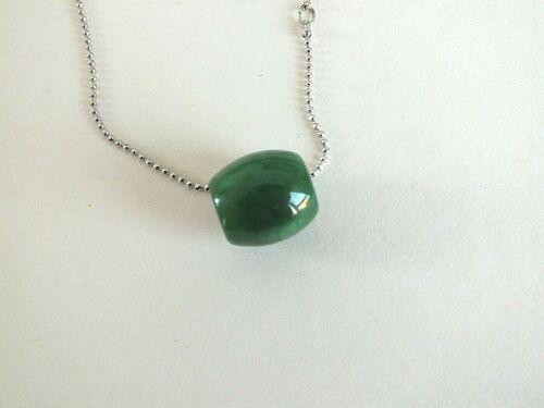 Chino D Verde Jade riqueza Suerte Colgante Collar Regalo de Fiesta de Mujer Hombre Chica P CC